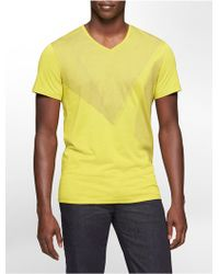 Calvin Klein Ck One Slim Fit Abstract Pigment Print Cotton Modal Graphic T-Shirt - Lyst