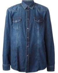 Iceberg Western-style Denim Shirt - Lyst