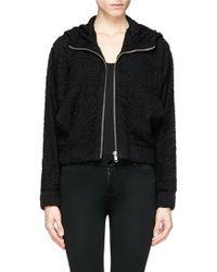 Helmut Lang Crinkled Jersey Hood Jacket black - Lyst