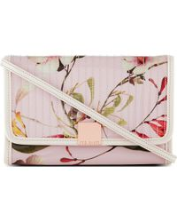 Ted Baker Botena Botanical Bloom Ipad Mini Bag Pink - Lyst