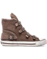 Ash Virginy Sneaker with Lamb Fur - Lyst