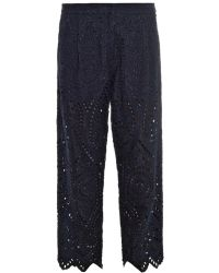 Zimmermann Riot Eyelet Cropped Trousers - Lyst