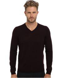 Calvin Klein Merino Solid Vneck Sweater - Lyst