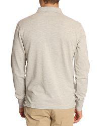Gant Classic Grey Polo Shirt - Lyst