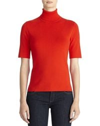 Jones New York Red Turtleneck Sweater - Lyst