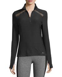 X By Gottex - Long-sleeve Mesh-panel Half-zip Jacket - Lyst