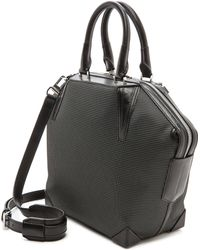 Alexander Wang Emile Neoprene Tote with Black Hardware Black and White - Lyst