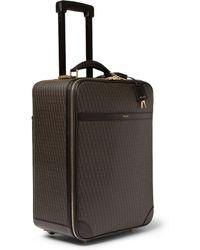 Saint Laurent - Leathertrimmed Coatedcanvas Carryon Case - Lyst