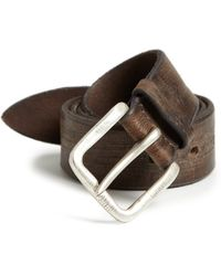 Orciani Texturized Leather Belt brown - Lyst