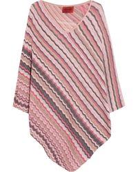 Missoni Crochet-Knit Cotton-Blend Poncho - Lyst