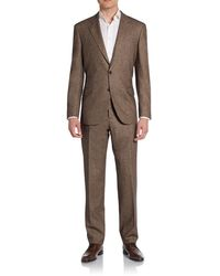 Brunello Cucinelli Regular-fit Donegal Virgin Woolsilkcashmere Suit - Lyst