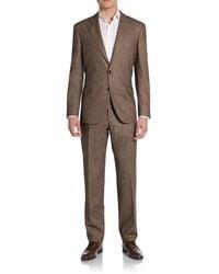 Brunello Cucinelli Regular-fit Donegal Virgin Woolsilkcashmere Suit - Lyst