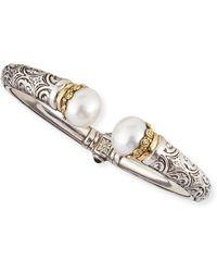 Konstantino Pearl-Tip Sterling Silver Hinge Bracelet - Lyst