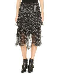 Jason Wu Cascade Skirt  Black - Lyst