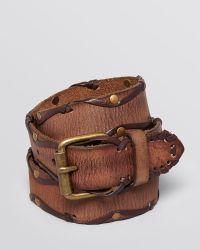 John Varvatos Laced Stud Leather Belt - Lyst
