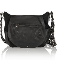 Isabel Marant Payson Suede And Leather Shoulder Bag - Lyst