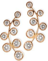 Rina Limor - 18k Rose Gold & Diamond Climber Earrings - Lyst
