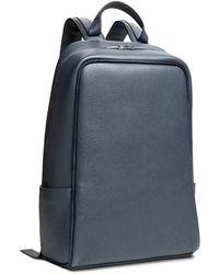 Calvin Klein Collection Grain Calf Backpack blue - Lyst