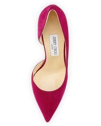 Jimmy Choo Willis Suede Half Dorsay Pump - Lyst