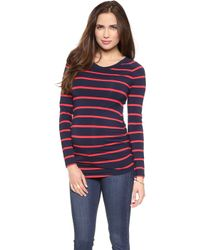 Rosie Pope - Long Sleeve Maternity Sylvie Tee - Navy/poppy - Lyst