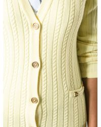 Céline Vintage Cable Knit Cardigan - Lyst