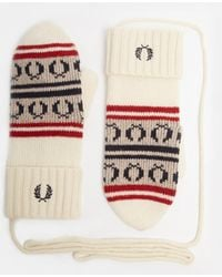 Fred Perry - Fairisle Knit Mittens - Lyst