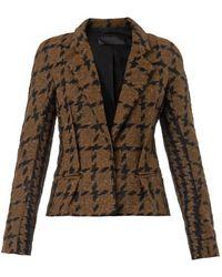 Haider Ackermann Antoni Bi-Colour Tweed Jacket - Lyst