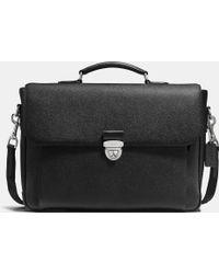 COACH   Metropolitan Briefcase In Crossgrain Leather   Lyst
