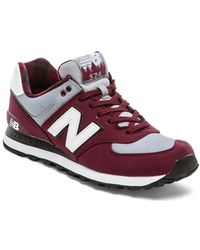 New Balance Red Ml574 - Lyst