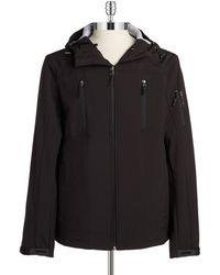 Calvin Klein Hooded Water Resistant Jacket black - Lyst