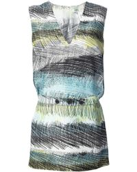 Kenzo Multicolor Shift Dress - Lyst