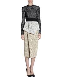 Proenza Schouler Long Sleeve Lace Dress - Lyst