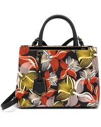 Fendi 2Jours Petite Orchid-Print Satchel - Lyst