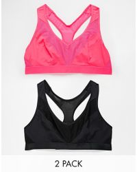 Marie Meili Low Impact Two Pack Soft Gym Bras In Quick Dry Fabric - Lyst