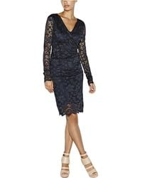 Nicole Miller Camille Flower Scroll Lace Dress - Lyst