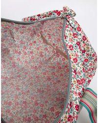 Cath Kidston - Foldaway Barrel Bag in Garden Disty Print - Lyst