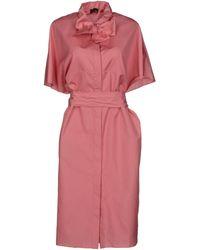 Fendi Pink Kneelength Dress - Lyst
