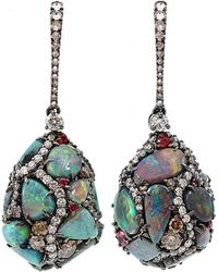 Arunashi - Black Opal Egg Drop Earrings - Lyst