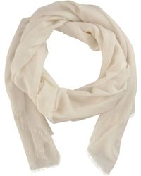 Barneys New York Oversized Solid Scarf white - Lyst