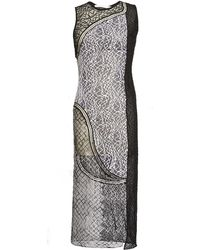 Jonathan Simkhai Wire Lace Curve Dress black - Lyst