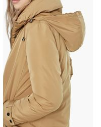 Mango - Feather And Down Filled Funnel Neck Parka - Lyst
