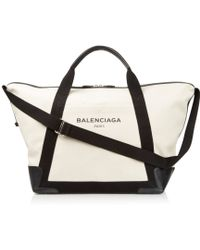 Balenciaga - Ligne Large Cotton-Canvas Weekender Bag - Lyst