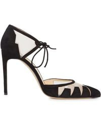 Bionda Castana - Lana Black Pointed Suede Court Shoes - Lyst