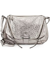 Kooba Leroy Metallic Shoulder Bag Gunmetal - Lyst
