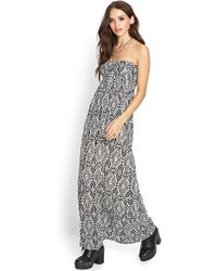 Forever 21 Tribal Print Maxi Dress - Lyst