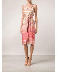 Altuzarra Printed Slim Dress - Lyst