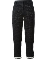 Giorgio Armani Cropped Trousers - Lyst