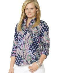Ralph Lauren Paisley Patchwork Shirt - Lyst