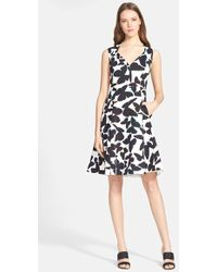 Kate Spade 'Butterfly' Fit & Flare Dress - Lyst