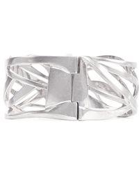 Alexander McQueen Deco Skull Bracelet silver - Lyst